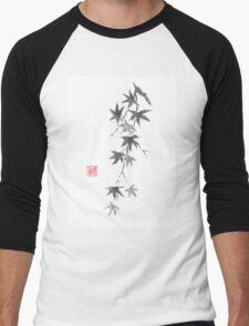 Star rain sumi-e painting Men's Baseball ¾ T-Shirt