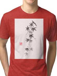 Star rain sumi-e painting Tri-blend T-Shirt