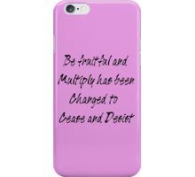 be fruitful and multiply iPhone Case/Skin