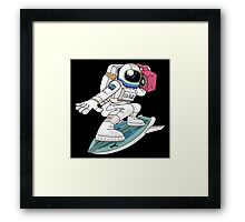 Surfing Astronaut Framed Print