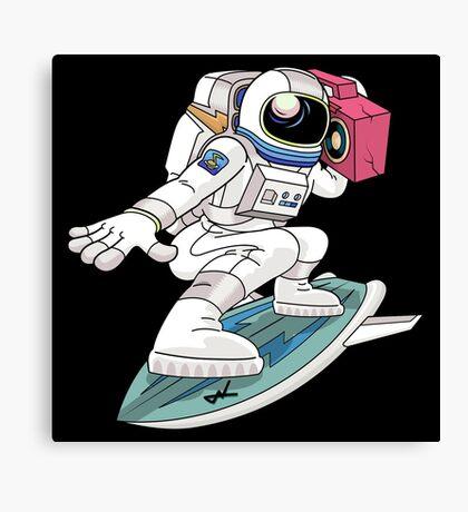 Surfing Astronaut Canvas Print