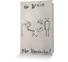 Brainwashed.  Greeting Card