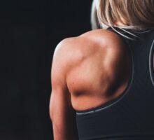 Athlete women Sticker