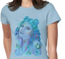 Space Grunge Girl Womens Fitted T-Shirt