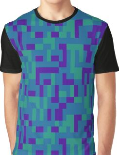 Lo Res Blu Noise Graphic T-Shirt