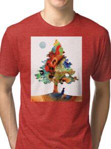Dog Art - Contemplation 2 - By Sharon Cummings  Tri-blend T-Shirt
