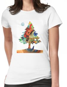 Dog Art - Contemplation 2 - By Sharon Cummings  Womens Fitted T-Shirt