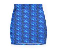 Cobalt Roses Mini Skirt
