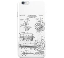 Vintage Schwinn Stingray Bicycle Stick Shift Mechanism Patent Drawing Design iPhone Case/Skin