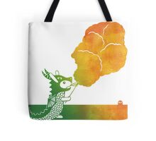 Fire Breathing Dragon Bunny Tote Bag