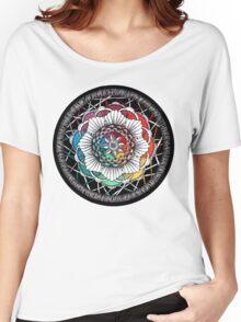Rainbow Mandala Zen art Women's Relaxed Fit T-Shirt