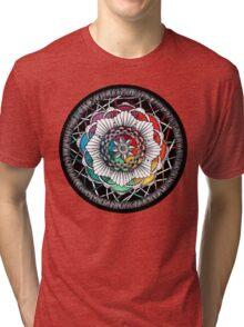 Rainbow Mandala Zen art Tri-blend T-Shirt