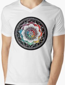 Rainbow Mandala Zen art Mens V-Neck T-Shirt