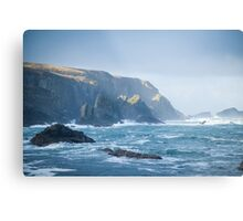 Cliffs at Port, Glencolmcille Metal Print
