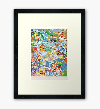 30 years of Mario (40 Left !) Framed Print