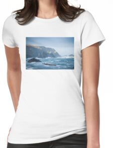 Cliffs at Port, Glencolmcille Womens Fitted T-Shirt