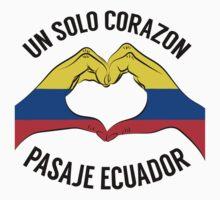 Ecuador - Un Solo Corazon2 One Piece - Short Sleeve