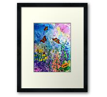 Butterfly Garden (rectangle) Framed Print