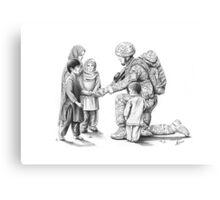Paratrooper in Afghanistan Canvas Print