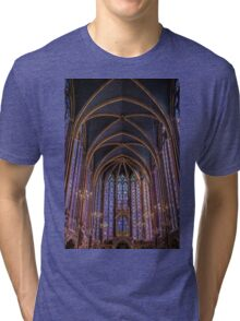 Sainte Chapelle Stained Glass Paris Tri-blend T-Shirt