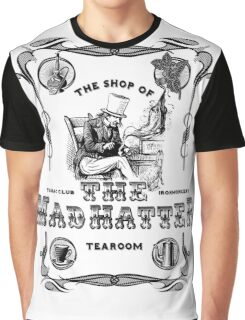 The Mad Hatter, the hatter, le chapelier fou, Alice in Wonderland, printmaking, Graphic T-Shirt