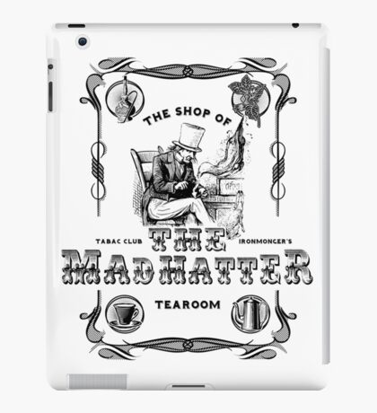 The Mad Hatter, the hatter, le chapelier fou, Alice in Wonderland, printmaking, iPad Case/Skin