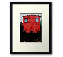 Red Goods Wagon Framed Print
