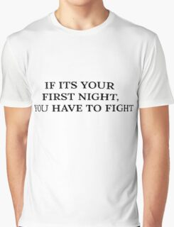 Fight Club Movie Quotes Graphic T-Shirt