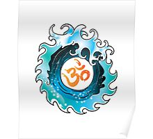 Yoga Infinity Wave with Ohm Poster