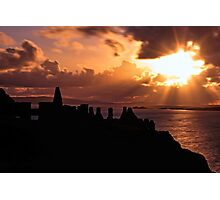 Sunset at Dunluce Castle Photographic Print