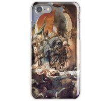 GEORGES JULES VICTOR CLAIRIN - The Entry of Mehmet II into Constantinople iPhone Case/Skin