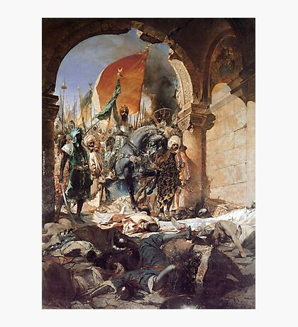 GEORGES JULES VICTOR CLAIRIN - The Entry of Mehmet II into Constantinople Photographic Print