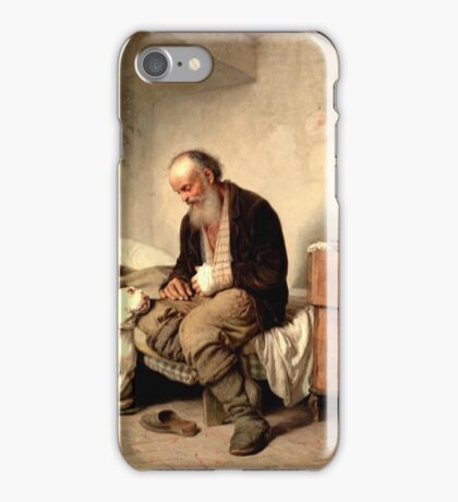 GEORGES JULES VICTOR CLAIRIN - The old man and his best friend iPhone Case/Skin