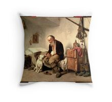 GEORGES JULES VICTOR CLAIRIN - The old man and his best friend Throw Pillow