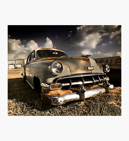 Abandoned 1954 Chevy Belair Photographic Print
