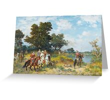 GEORGES WASHINGTON  CAVALIERS ARABES Greeting Card