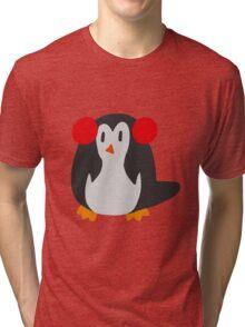 Earmuffs Penguin Tri-blend T-Shirt