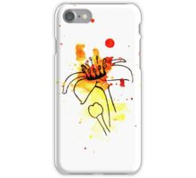 Abstract Frankincense Flower with Watercolor bursts and splashes iPhone Case/Skin