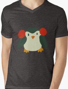 Cute Winter Penguin Mens V-Neck T-Shirt