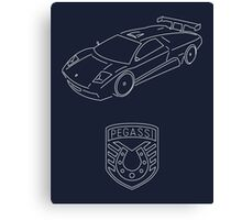 GTA V - Infernus Outline (White) Canvas Print