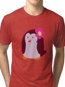 Flower Penguin Tri-blend T-Shirt