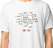 U.K. to U.S.A. T-shirt Travel Guide Classic T-Shirt