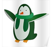 Green Penguin Poster