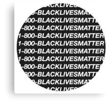 Black Lives Matter Sticker Canvas Print
