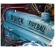 "1950 Buick ""Fireball"" Straight-Eight Engine Poster"