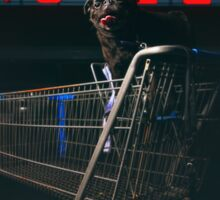 Pug Life - Shopping Cart Motel Sticker