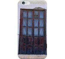 Weathered Red Wood Door iPhone Case/Skin