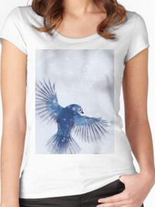 Winter Chickadee 2 Women's Fitted Scoop T-Shirt