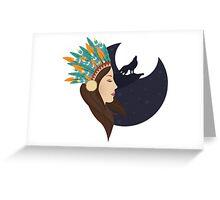 Native indian Greeting Card