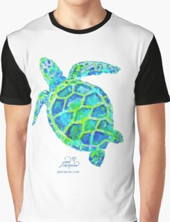 Sea Turtle green & blue by Jan Marvin Graphic T-Shirt